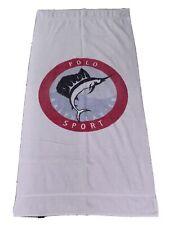 Rare Vintage 90s Polo Sport Ralph Lauren Marlin Logo Beach Towel 66x34 Inches RL
