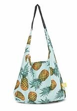 New STASH IT  Love Reusable Recycled Shopping Bag PINEAPPLE EXPRESS Green Strong