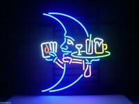 """17""""x14""""Blue Moon Neon Sign Light Leisure Bar Beer Pub Party Wall Hanging Artwork"""
