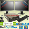 "FAST DELL DESKTOP WITH DUAL SCREEN 2 x 22"" HD LCD MONITOR FULL SET PC WIN 7 WiFi"