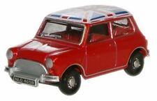 Oxford Diecast 1:76 OO Scale Austin Mini MkI Tartan Red Union Jack Roof