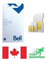 NEW Bell 4G Multi SIM Card (Canada) (prepaid service while visiting)