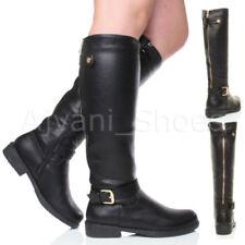 Botas de caña alta de mujer de tacón medio (2,5-7,5 cm) de color principal negro