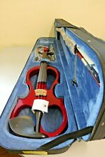 RED Electric Violin 4/4 style VE008B + FOAMED CASE+ BOW + HEADPHONE + ROSIN New