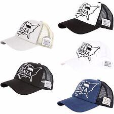 55f14c22 M55 California Bear Design Cool Mesh Fashion Camping Punk Hat Truckers Ball  Cap