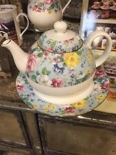 Teapot, Chintz Design, English Fine Bone China, Shabby Chic