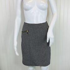 Alfani Size 10P Petite Skirt NEW Stretch Black White Print Stretch