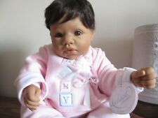 More details for middleton artist snuggles black ethnic reva schick biracial baby doll little one