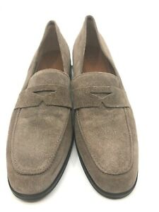 Aquatalia NEW Joey Taupe Suede Loafer Rubber Sole Weatherproof Size 10 $150