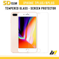 For iPhone 7 Plus 8 Plus 5D Curved Edge Tempered Glass Full Screen Protector UK