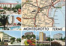 MONTEGROTTO TERME - VEDUTINE + CARTA TCI - V 1980 - FG