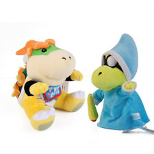 2PCS Super Mario Bros Magikoopa Kamek and Bowser Jr. Koopa Plush Doll Toy 7 inch