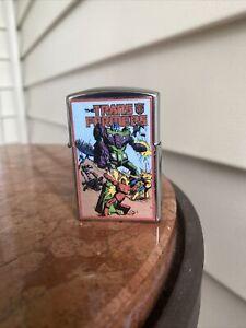 Vintage 1980s Transformers Devastator Decepticon Stainless Steel Lighter
