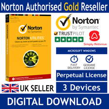 Norton Utilities PC Tune-Up v16.0 2018 - 3 PC's - Delivery by Email