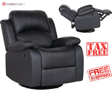 Recliner Rocker And Swivel Reclining Chair Living Room Lazy Boy Bonded Leather