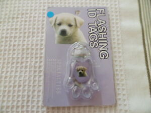 Dog/Cat Flashing ID Pet Tag Fun Designs Cute Novelty Animal Gift ~ Pet Lover ~
