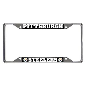 Fanmats NFL Pittsburgh Steelers Chrome Metal License Plate Frame Del. 2-4 Days
