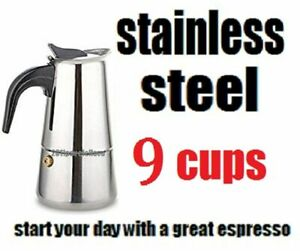 Stovetop Coffee Maker 2/4/6/9 CUP Stainless Steel  Espresso Percolator cafetera