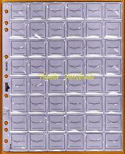 10 buste fogli UNI ECO per sistemare collezione monete in raccoglitore caselle48