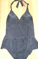 Resort - Stylish Black Halterneck Skirted Swimming Costume - Size 16 - BNWT