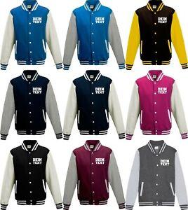 Varsity College Jacke mit Wunschdruck viele Farben Partnerlook Jacken S6904164s