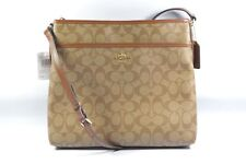 Coach F58297 IME74 Khaki Saddle 2 Signature File Bag