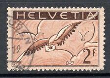 (054)     Switzerland 1923-40 Air 2f. Chestnut, Sepia & Grey Brown SG328 VF Used