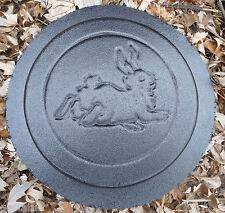 "10"" bunny hopping rabbit stepping stone plastic mold  plaster concrete"
