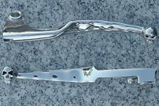 Yamaha VStar V-Star 650 1100 Custom CHROME SKULL FRONT BRAKE & CLUTCH LEVERS