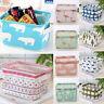 Foldable Cotton Linen Desktop Storage Box Fabric Cube Basket Cosmetics Organizer
