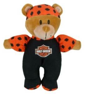 Harley-Davidson Harley Dude 8in. Shake Rattles & Roll Bear, Black/Orange 9950841
