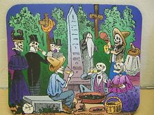 "Day of the Dead Skeleton ""Party in the Cemetery""  Mousepad"