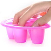 Manicure Tool Nail Art Soak Bowl Off Hand Spa Bath Soaker Treatment Remover ^D