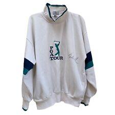 Tiger Woods signed PGA Tour Sweatshirt size large