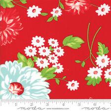 The Good Life Fabric 3 yds RED Aqua Bonnie Camille Moda Cotton quilting 55150-11