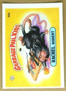 1985 Garbage Pail Kids RACHEL Rodent Series 2 GPK Vintage Sticker Card 66b MATTE