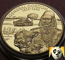 2003 EAST CARIBBEAN STATES $2 Dollar Piedfort Gold Plated Coin General Gordon