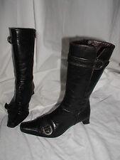 bottes cuir noir SPIRAL 36