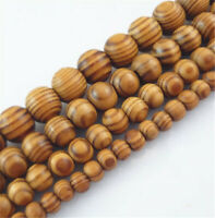 6-18mm Natural Wood Round Loose Spacer Beads For Bracelet Jewelry DIY Crafts yu