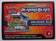 5 x Black & White PLASMA BLAST Online Booster Codes - Pokemon TCG
