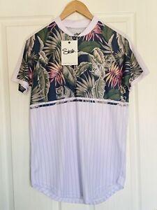 Mens Medium Sik Silk Baseball Tee Tshirt BNWT