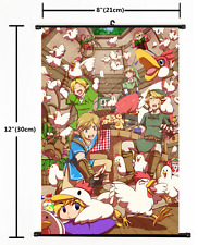 HOT Anime Game The Legend of Zelda Wall Poster Scroll Home Decor Cosplay 2191