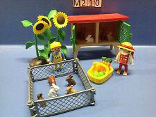 (M210) playmobil grand clapier à lapins avec enfants 3075 3072 3074