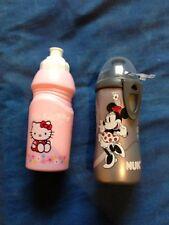 2 Hello Kitty rosa Flasche Minnie Mouse silber Trinkflasche Flasche  wie neu