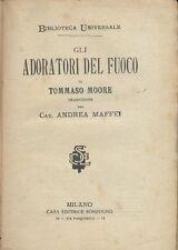 AMORI DEGLI ANGELI il profeta velato e ADORATORI DEL FUOCO di Thomas Moore 1882