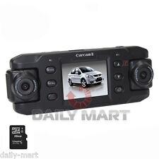 "720P GPS G-sensor 16GB Car Video Dual Camera DVR Recorder Night 2"" Blackbox"