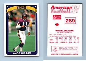Wade Wilson - Vikings #289 American Football 1990-91 Panini Sticker