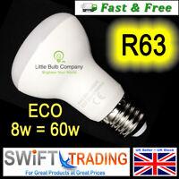 R63 LED Light Bulbs 8W E27 Spot Reflector Lighting ~ Light Bulb Energy Rating A+