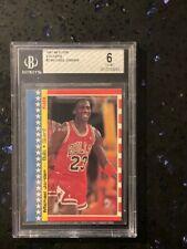 1987 FLEER STICKER MICHAEL JORDAN 2nd Year Card - Centered - BGS 6 🔥