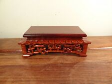 """Rectangle Display Stand - Red Suanzhi Wood - 3 1/8""""x1 1/2"""""""